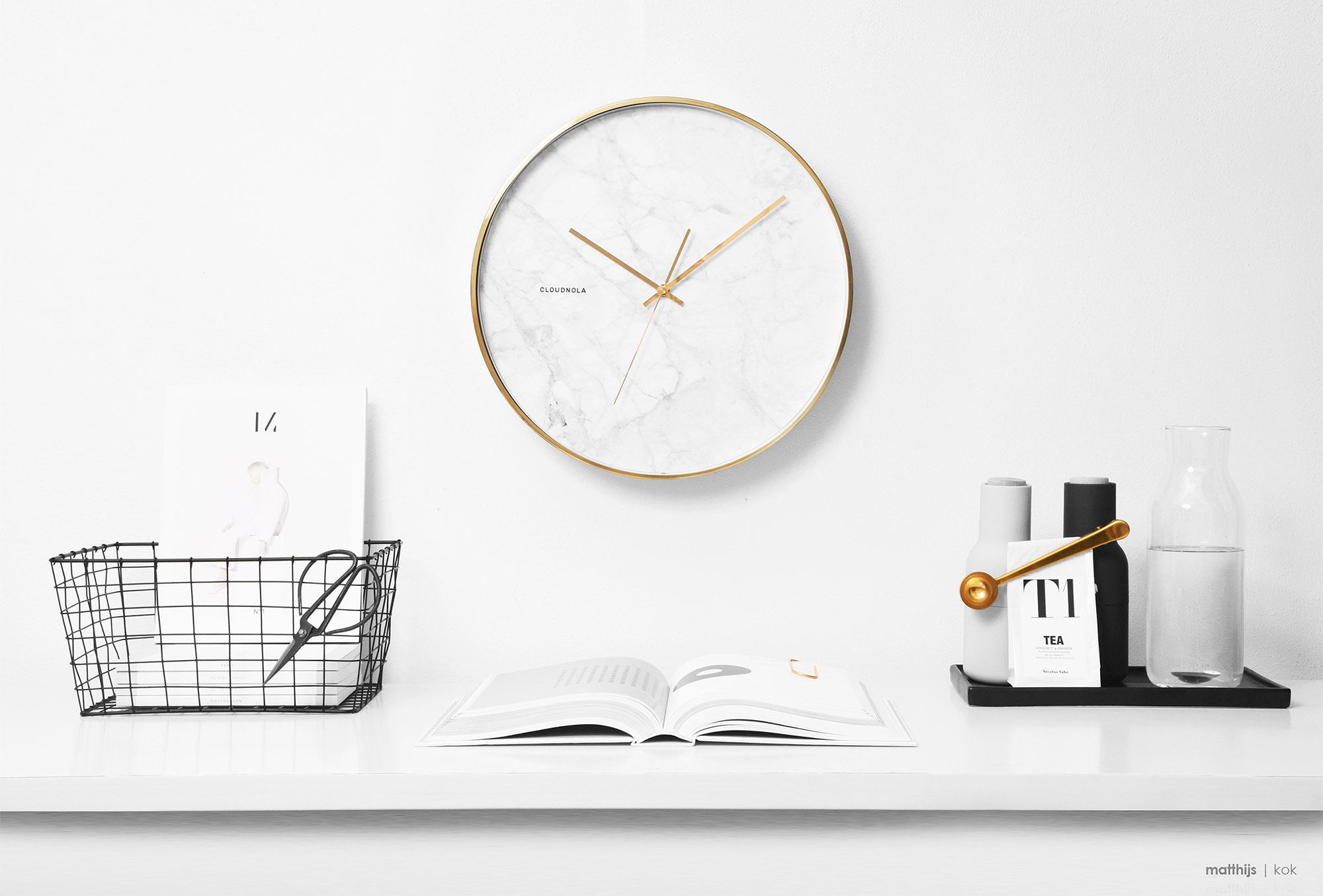 Cloudnola Structure Marble Clock | Photo by Matthijs Kok