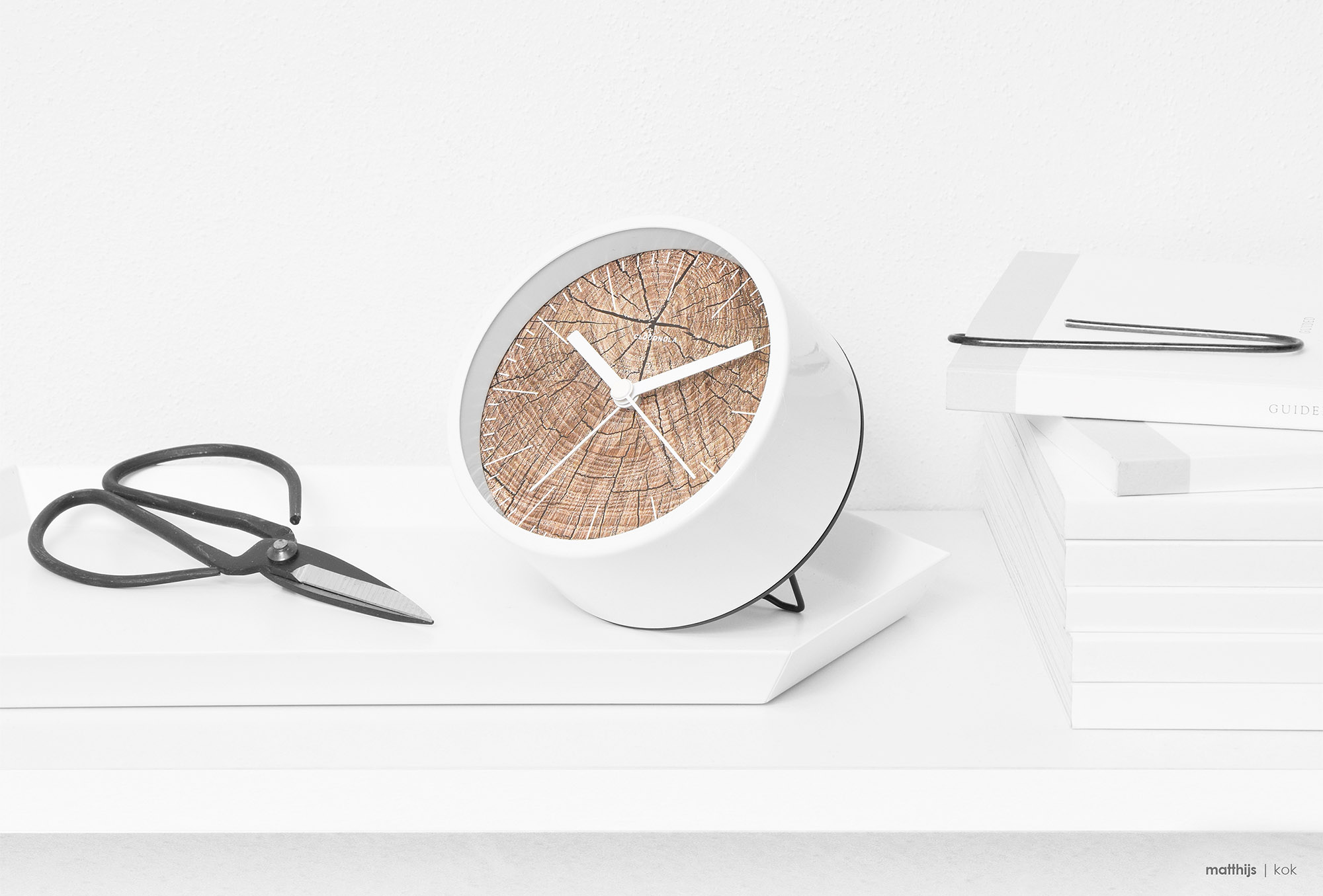 Cloudnola Structure Wood Alarm Clock | Photo by Matthijs Kok