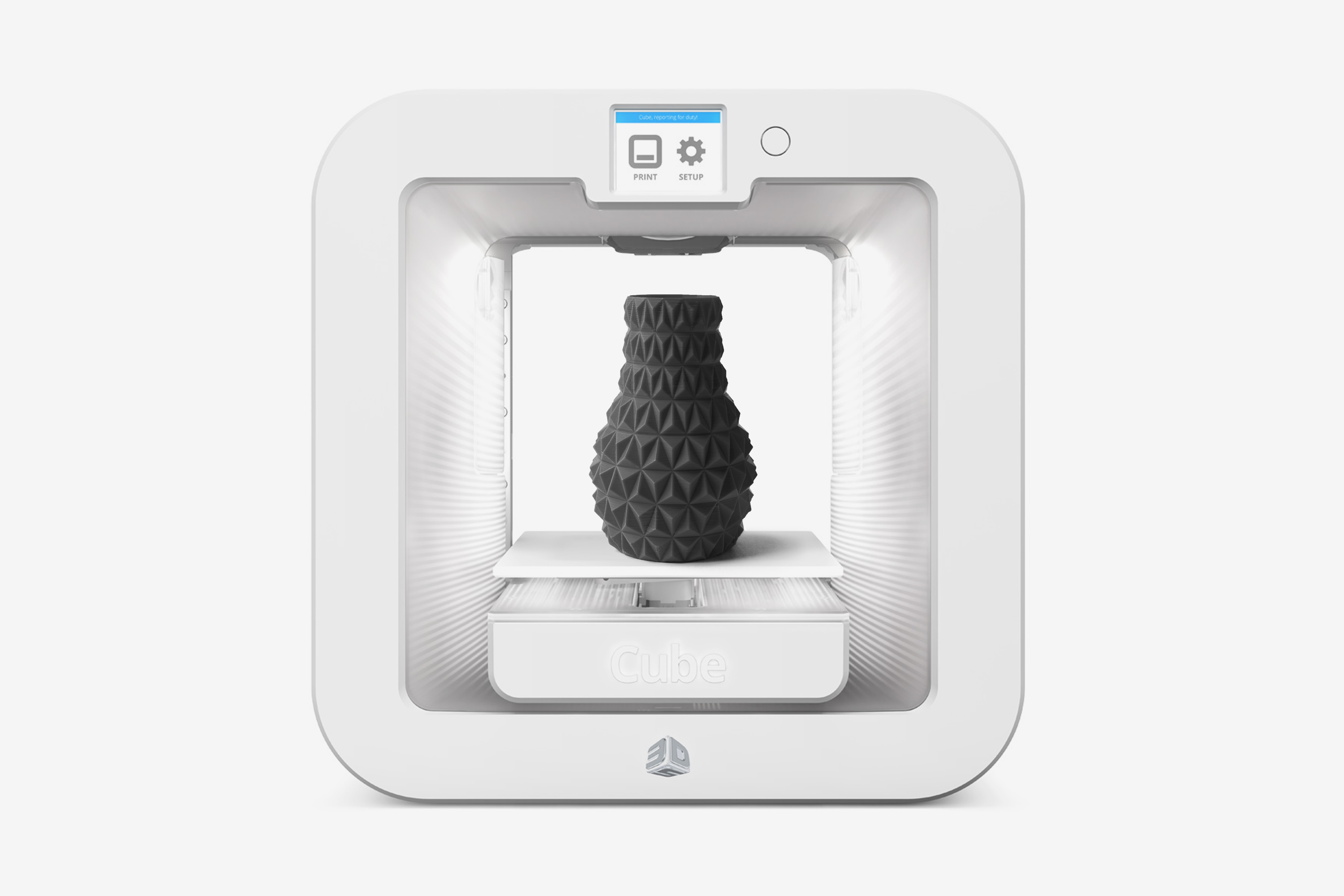 Faceted Vase in Cube 3D Printer, Design by Matthijs Kok for Cubify
