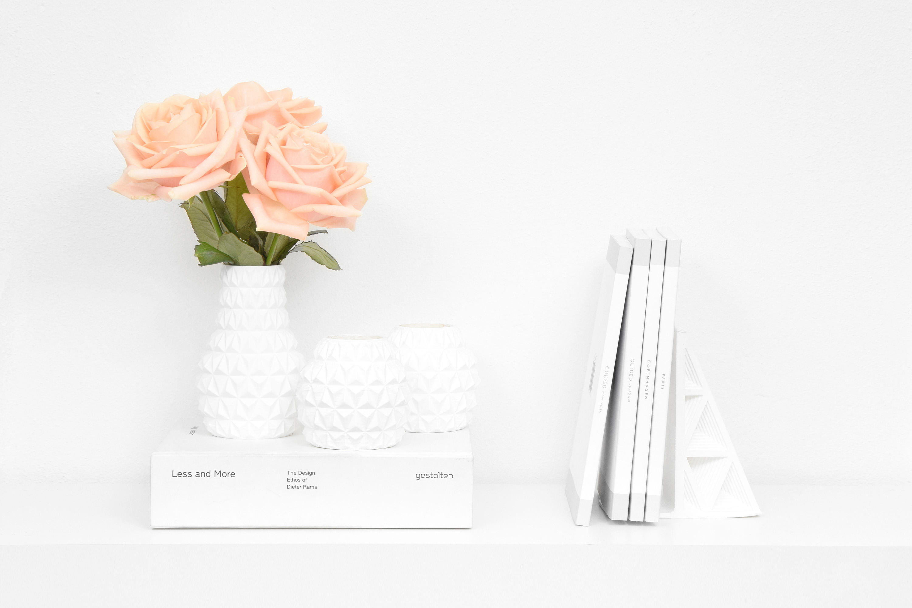 3D Printed Faceted Vase, Design by Matthijs Kok for Cubify
