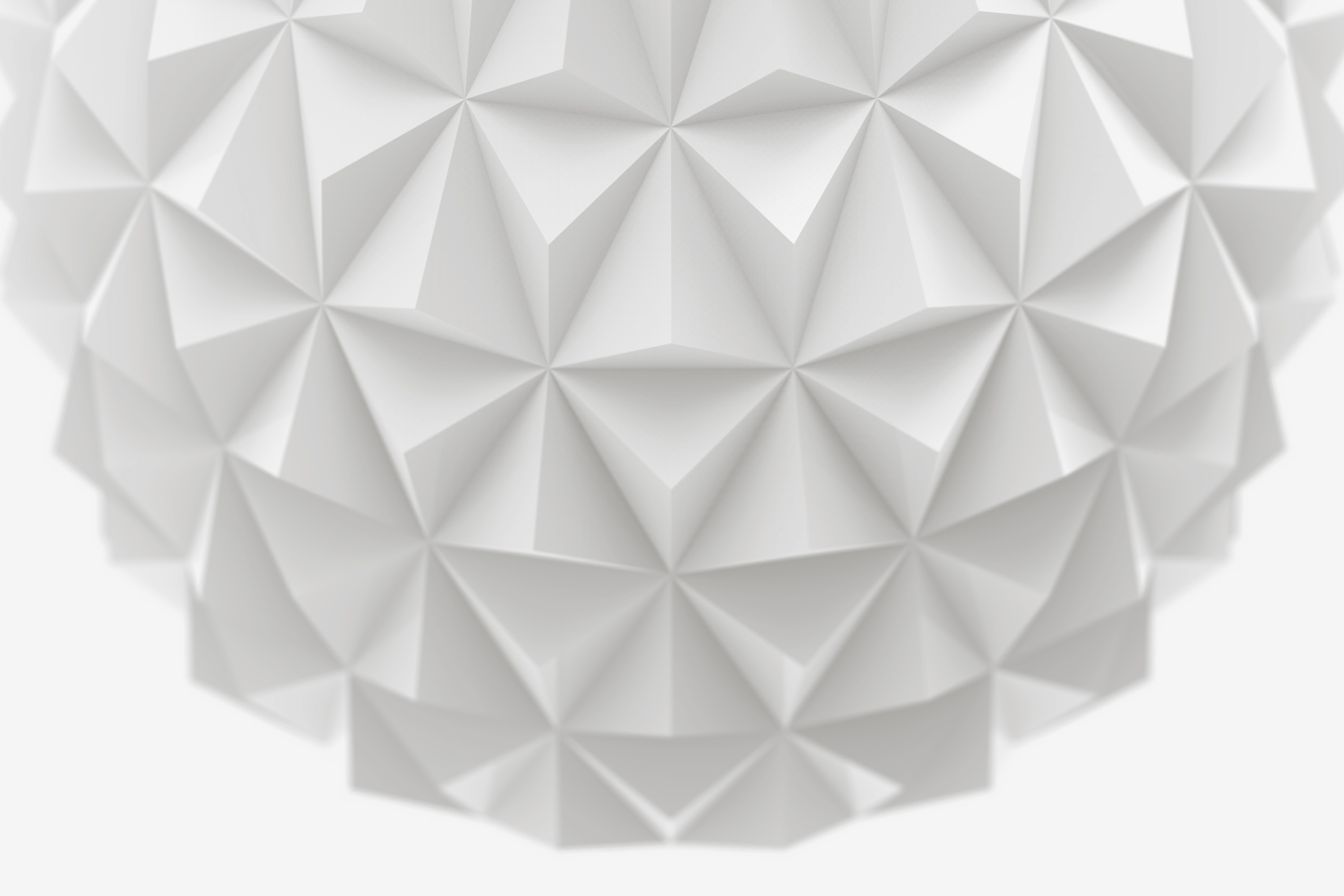 3D Printed Faceted Vase Detail, Design by Matthijs Kok for Cubify
