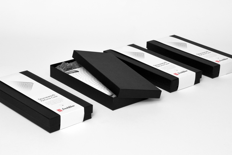 Stonework Perfume Case Packaging, Design by Matthijs Kok for Freshfiber