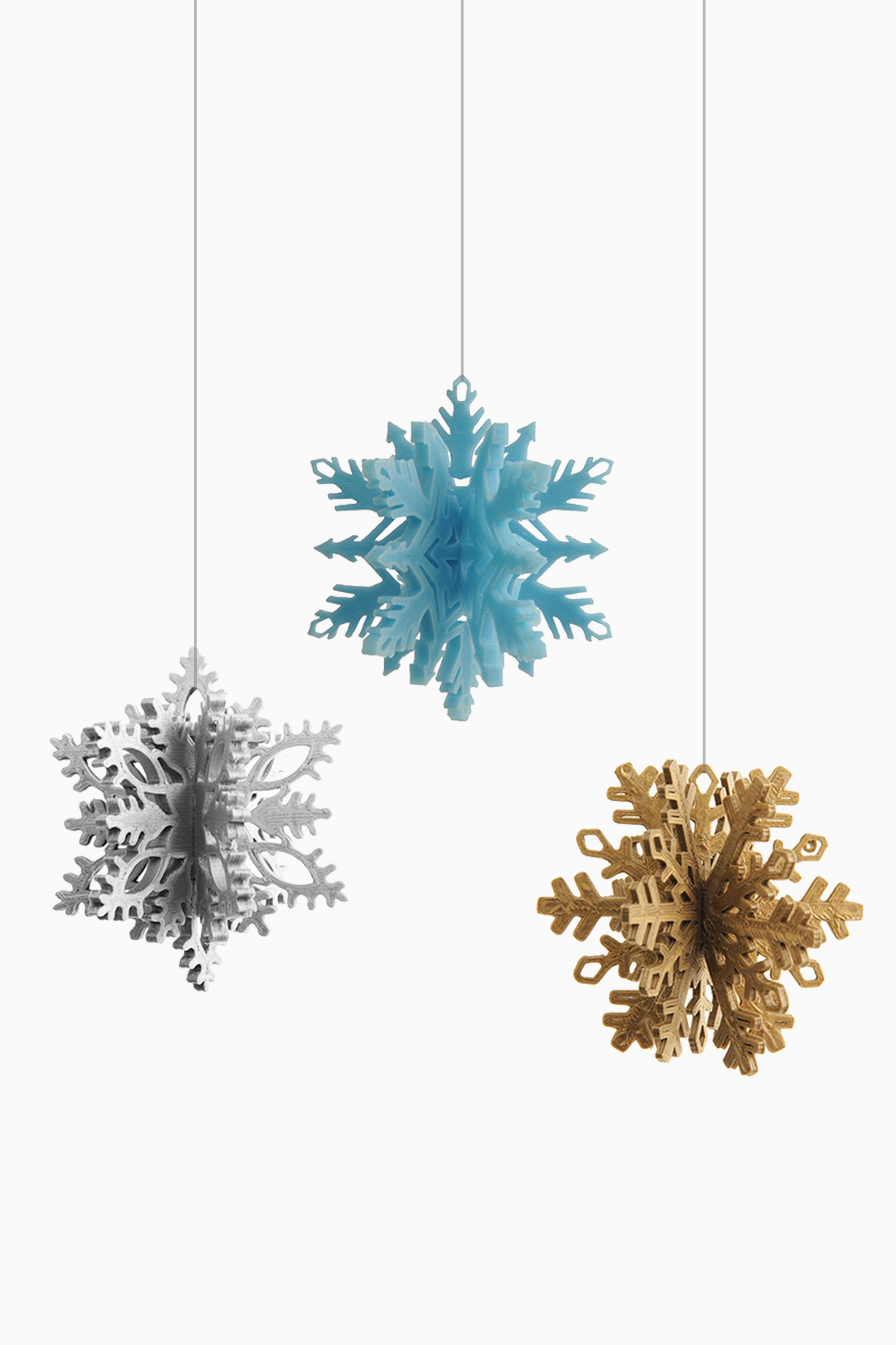 Cubify Snowflake Ornaments by Matthijs Kok