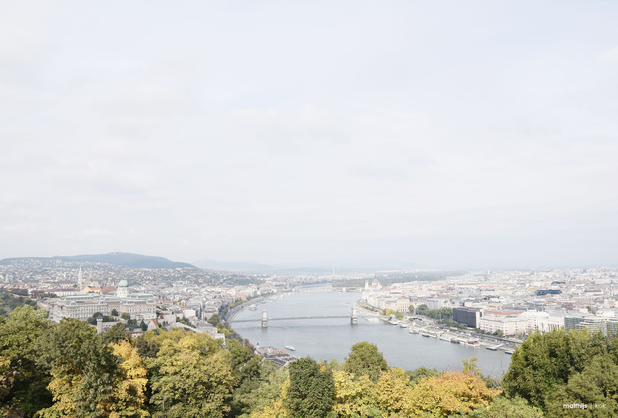 Panoramic view of Budapest and the Danube river from the Citadella | Photo by Matthijs Kok