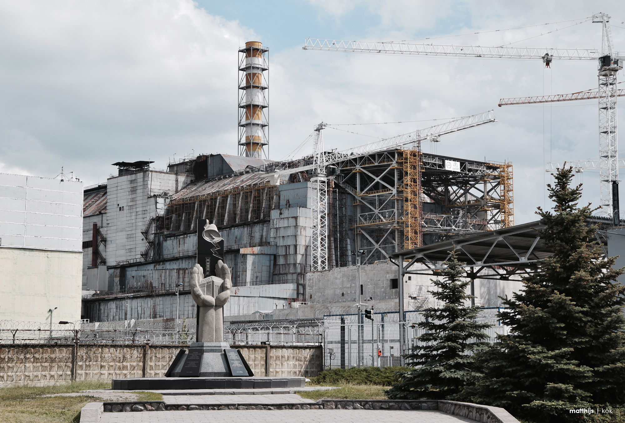Sarcophagus over Reactor Number 4, Chernobyl | Photo by Matthijs Kok