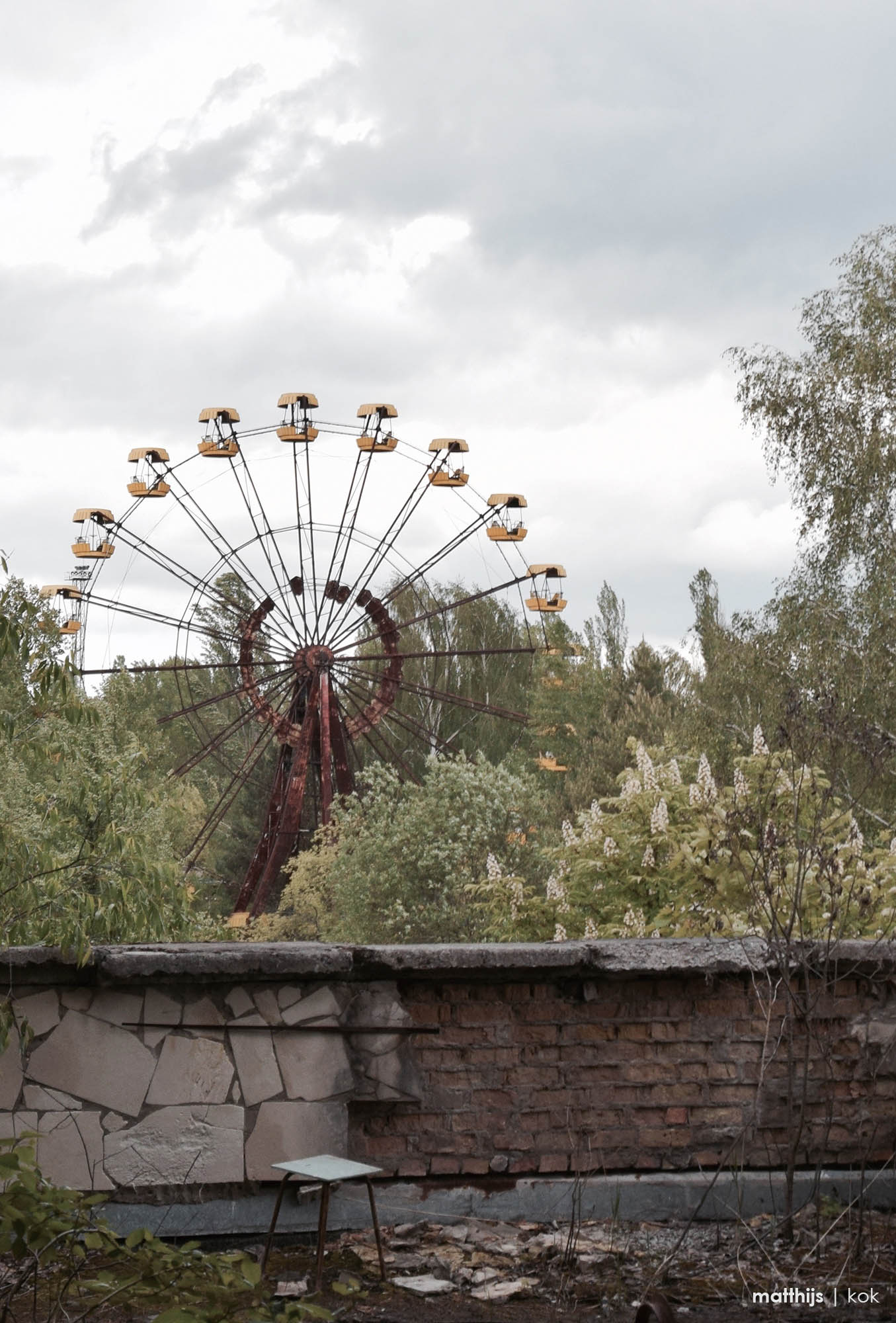 Ferris Wheel, Pripyat Chernobyl | Photo by Matthijs Kok