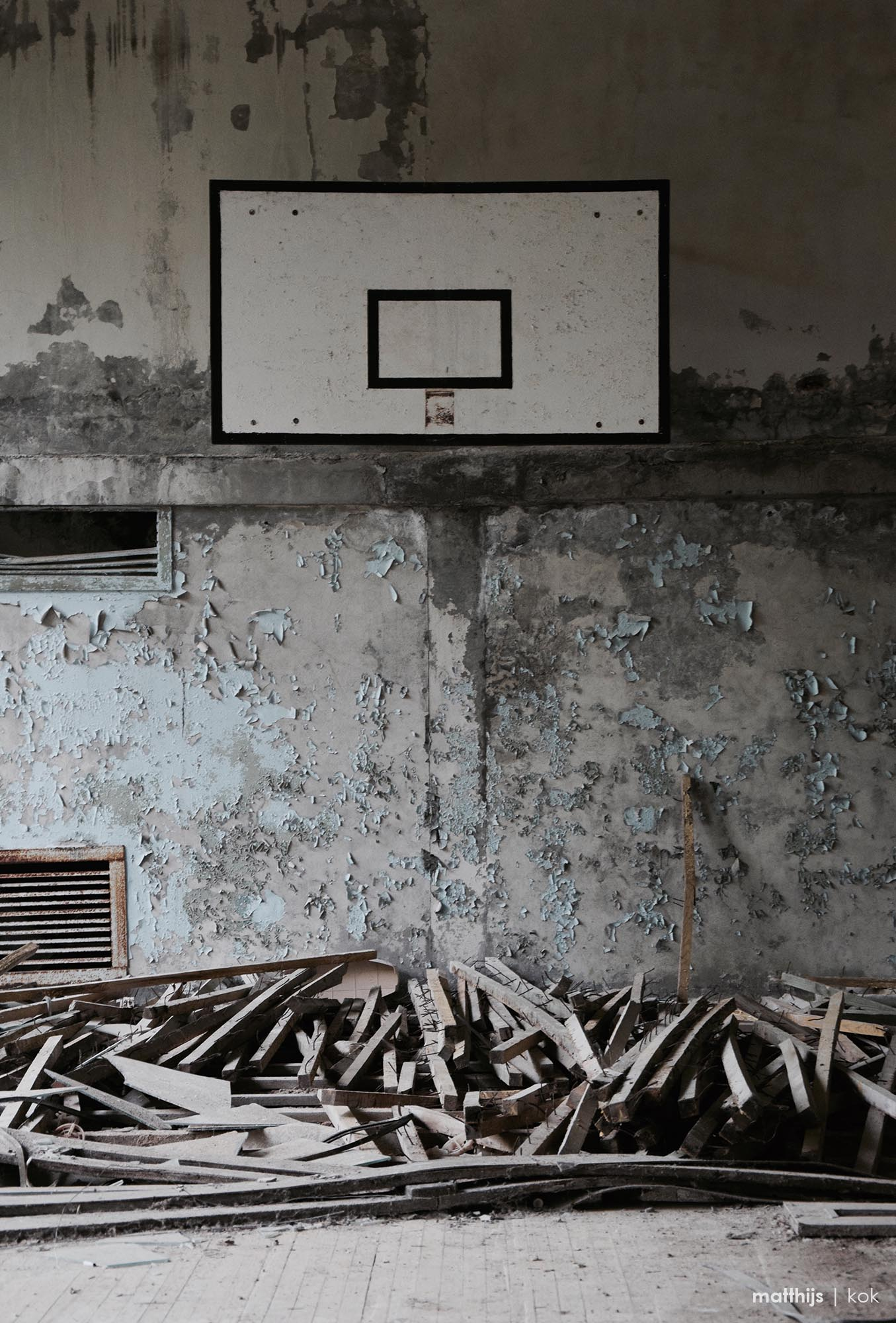 Basketball Court in the Palace of Culture, Pripyat | Photo by Matthijs Kok