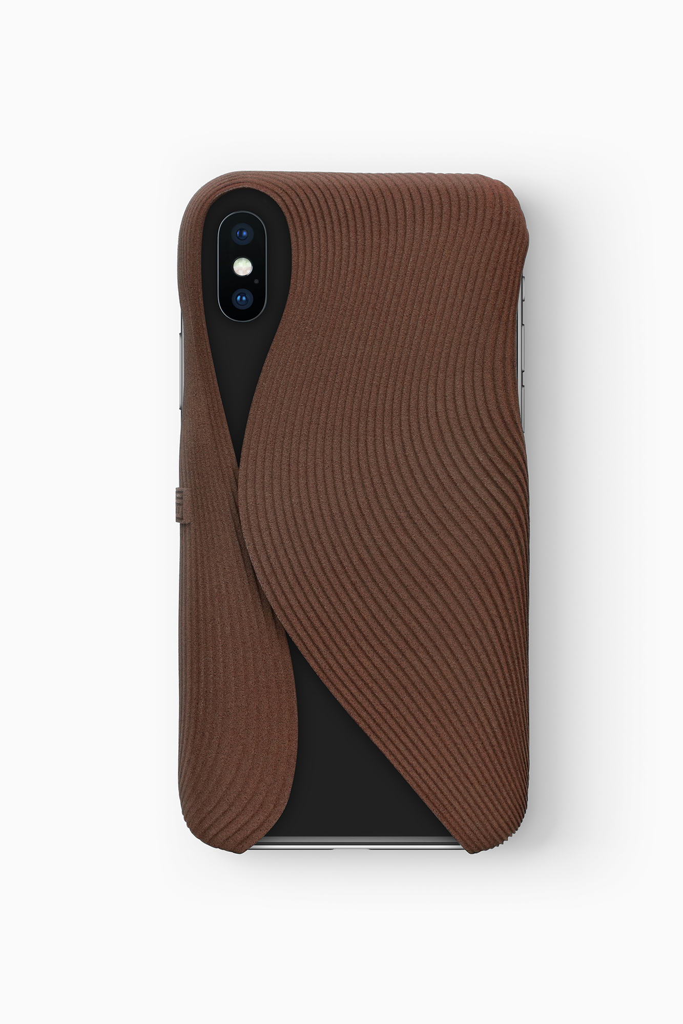 FOLD Case for iPhone X in Brown, Design by Matthijs Kok for Freshfiber