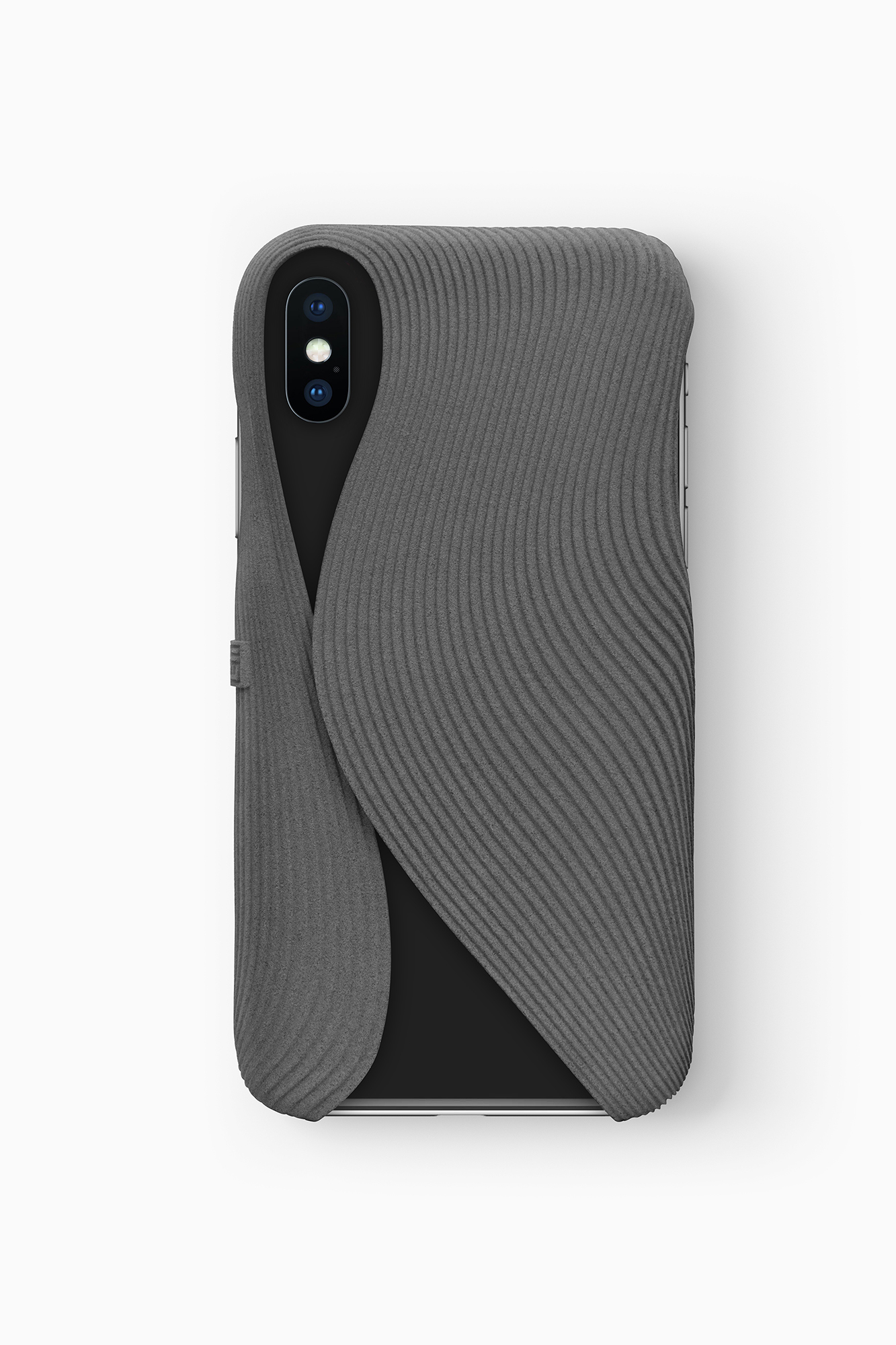 FOLD Case for iPhone X in Grey, Design by Matthijs Kok for Freshfiber