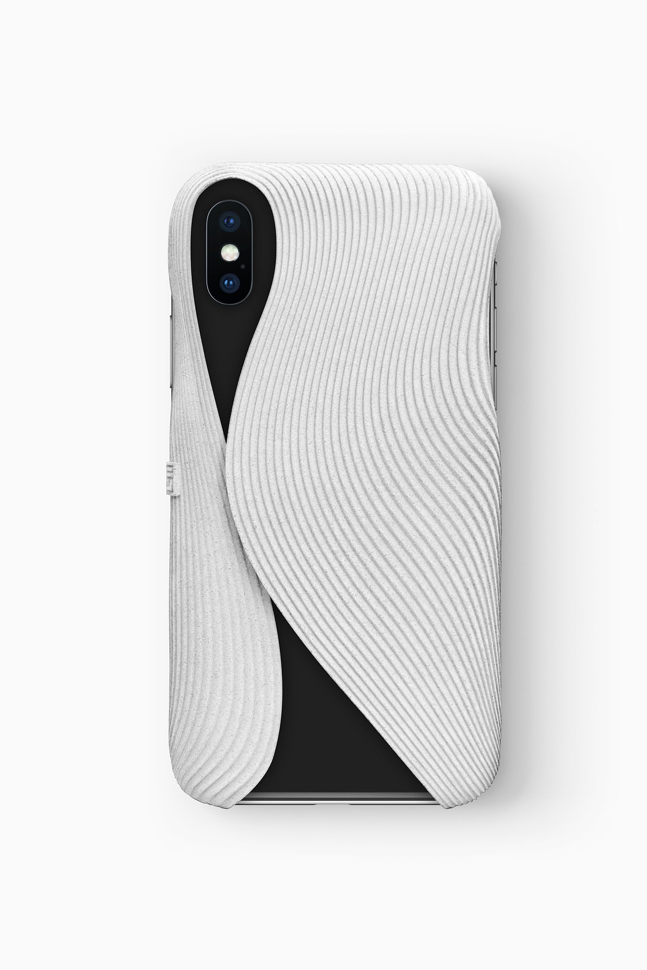 FOLD Case for iPhone X in white, Design by Matthijs Kok for Freshfiber