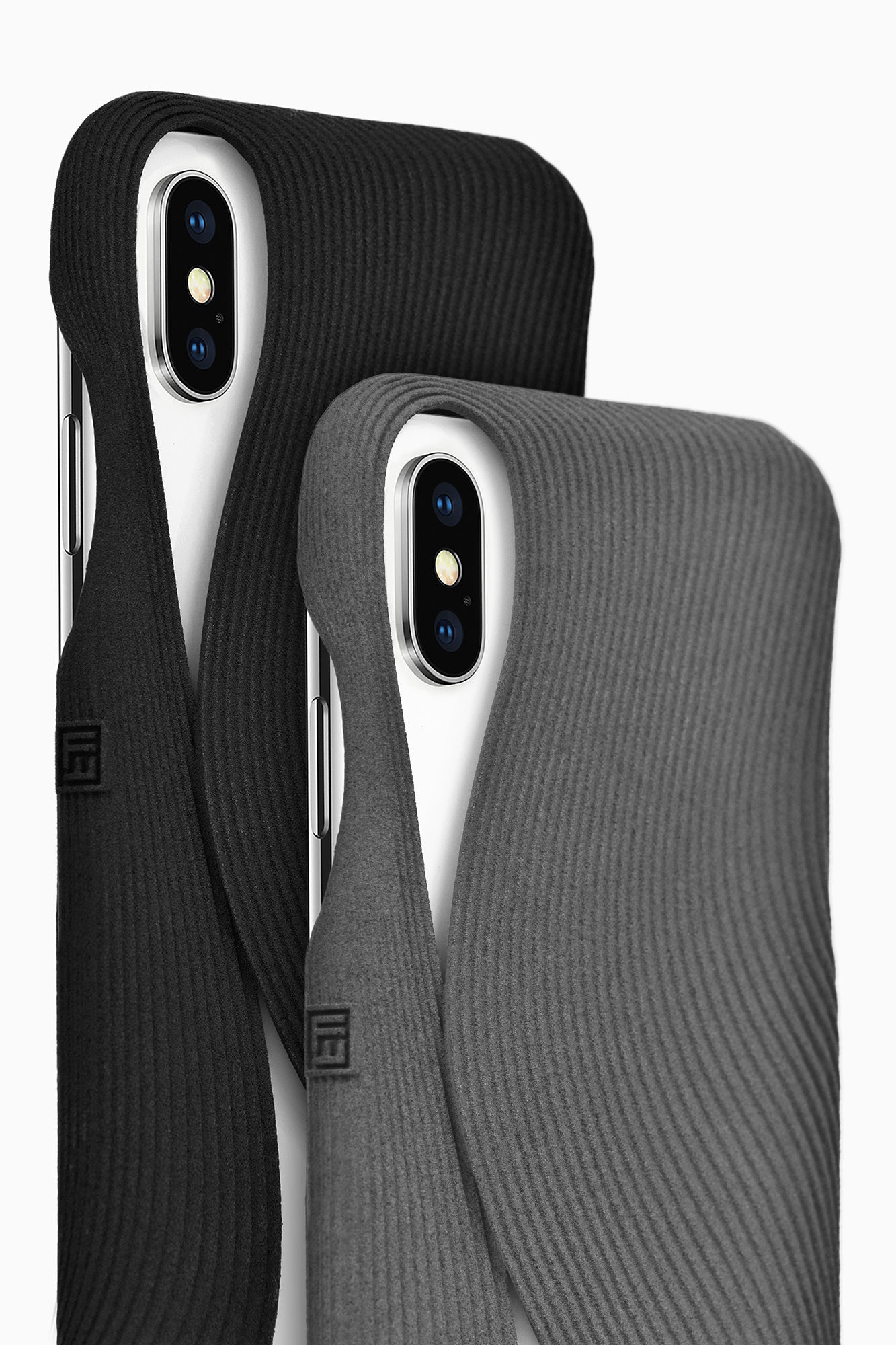 FOLD Covers in Black and Grey for iPhone X, Design by Matthijs Kok for Freshfiber