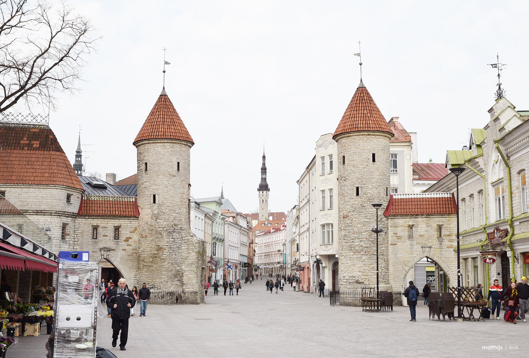 Viru Gate, Tallinn, Estonia| Photo by Matthijs Kok