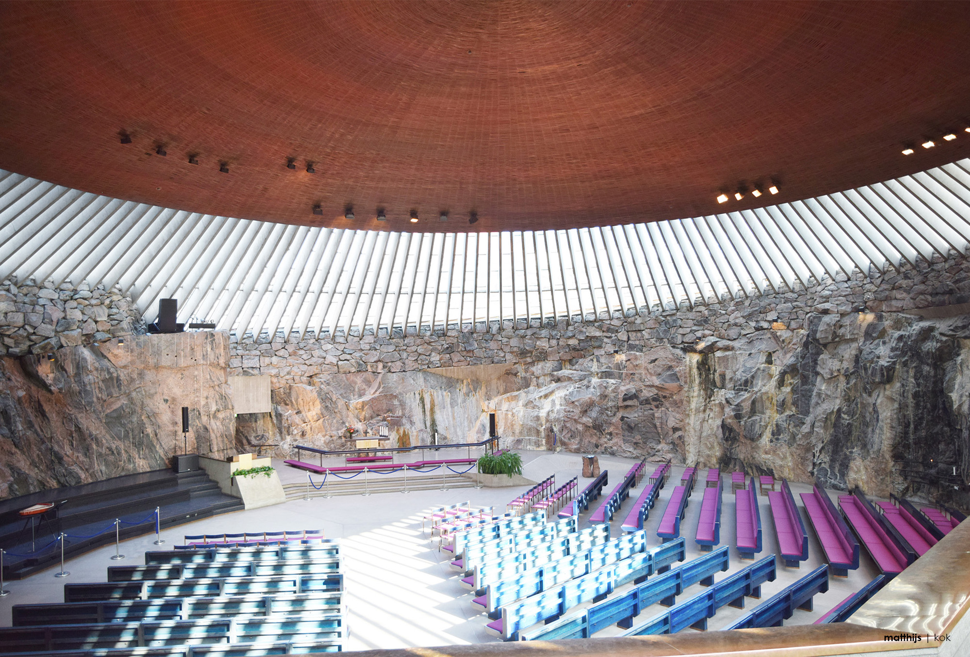 Temppeliaukio Church (The Rock Church), Helsinki, Finland | Photo by Matthijs Kok