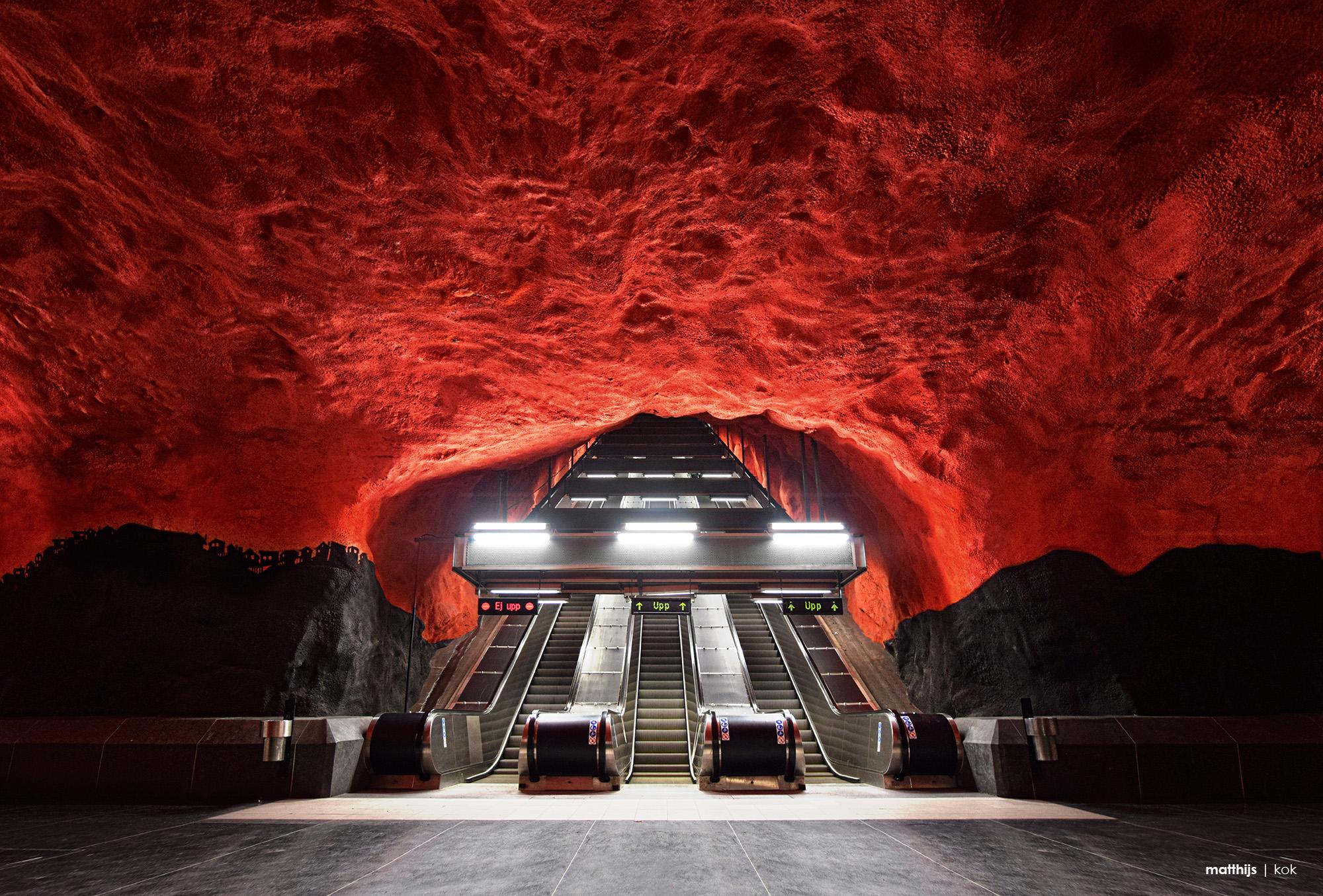 Solna Subway Station, Stockholm, Sweden | Photo by Matthijs Kok