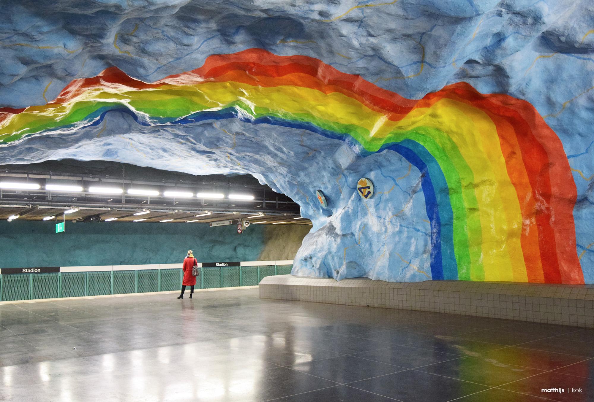 Stadion Subway Station, Stockholm, Sweden | Photo by Matthijs Kok