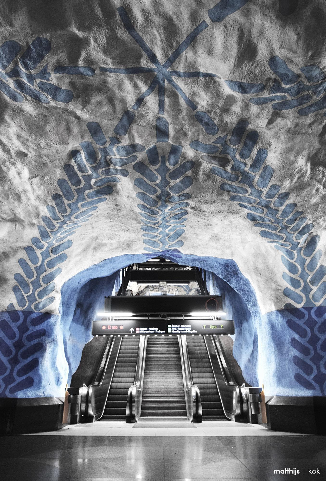 T-Centralen Subway Station, Stockholm, Sweden | Photo by Matthijs Kok
