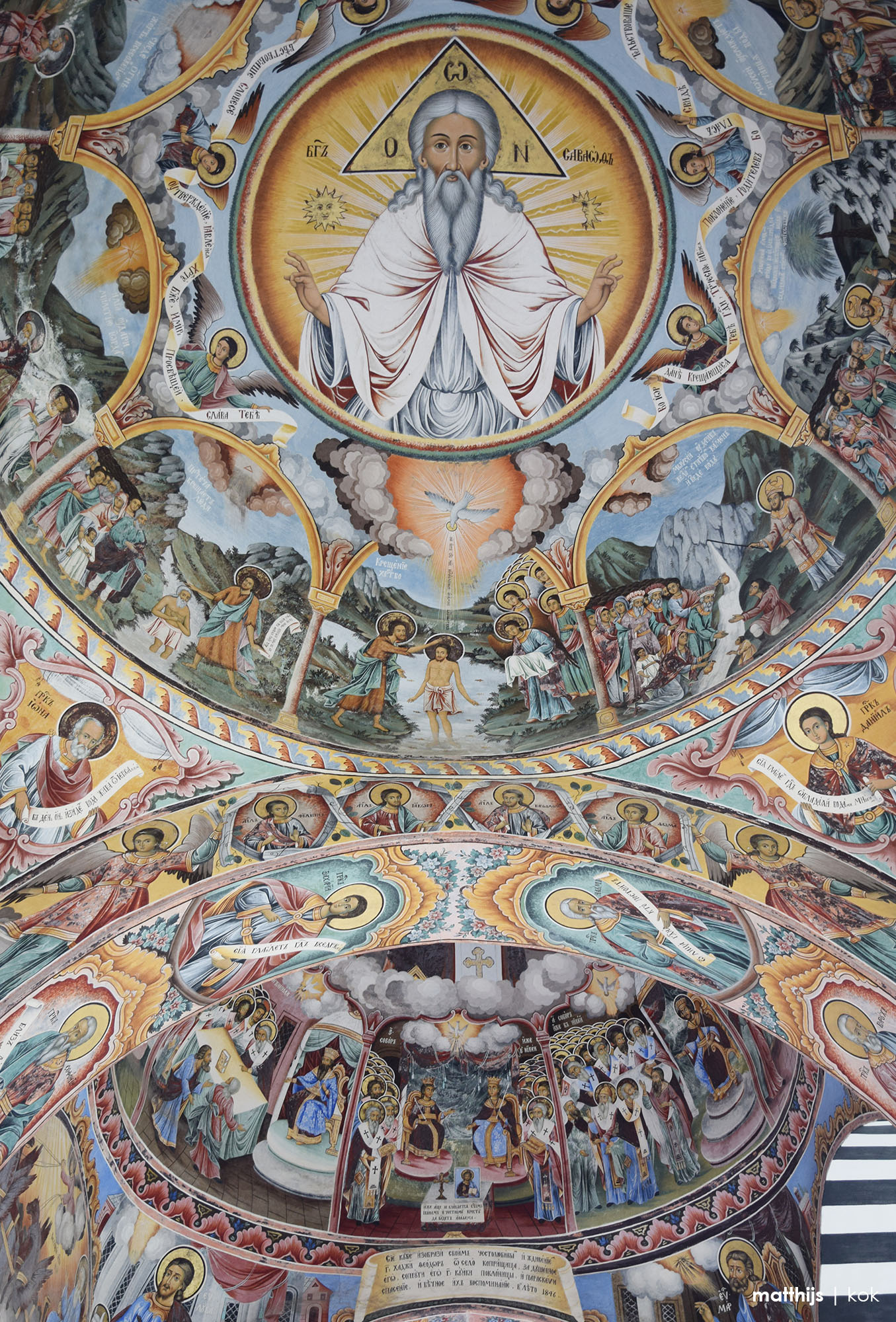 The Colorful Frescoes of Rila Monastery | Photo by Matthijs Kok