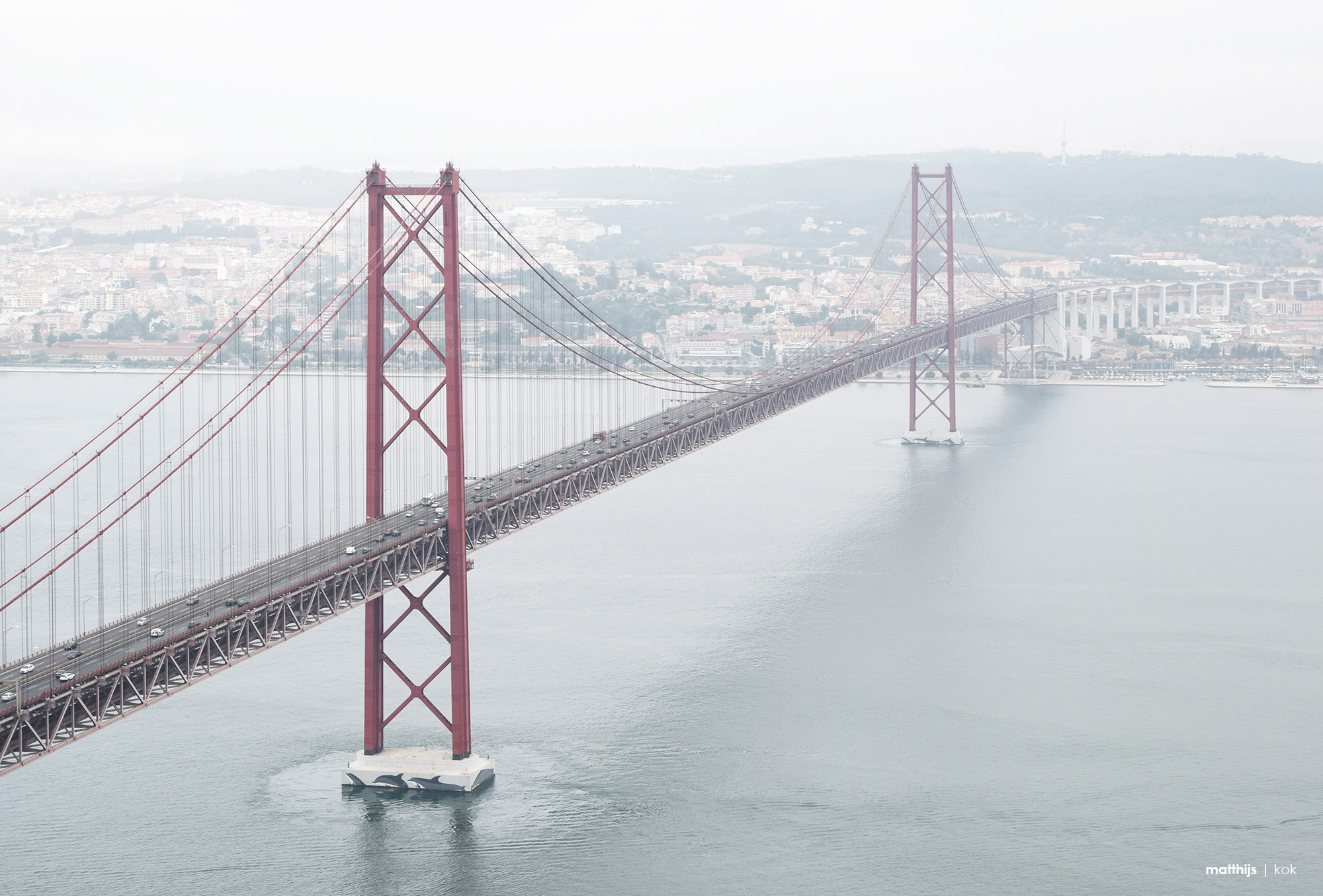Ponte 25 de Abril over the Tagus River, Lisbon, Portugal | Photo by Matthijs Kok