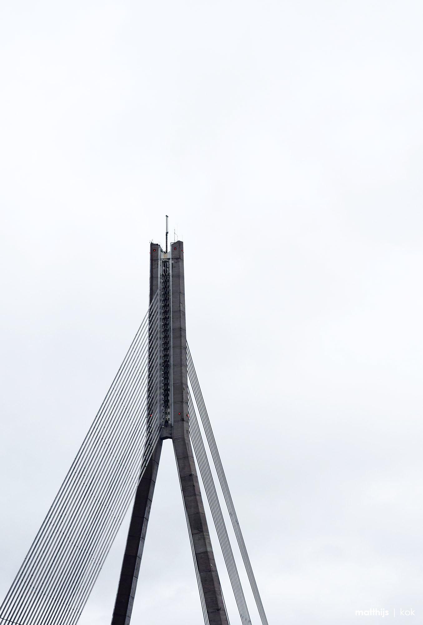 Vanšu Bridge, Riga, Latvia | Photo by Matthijs Kok