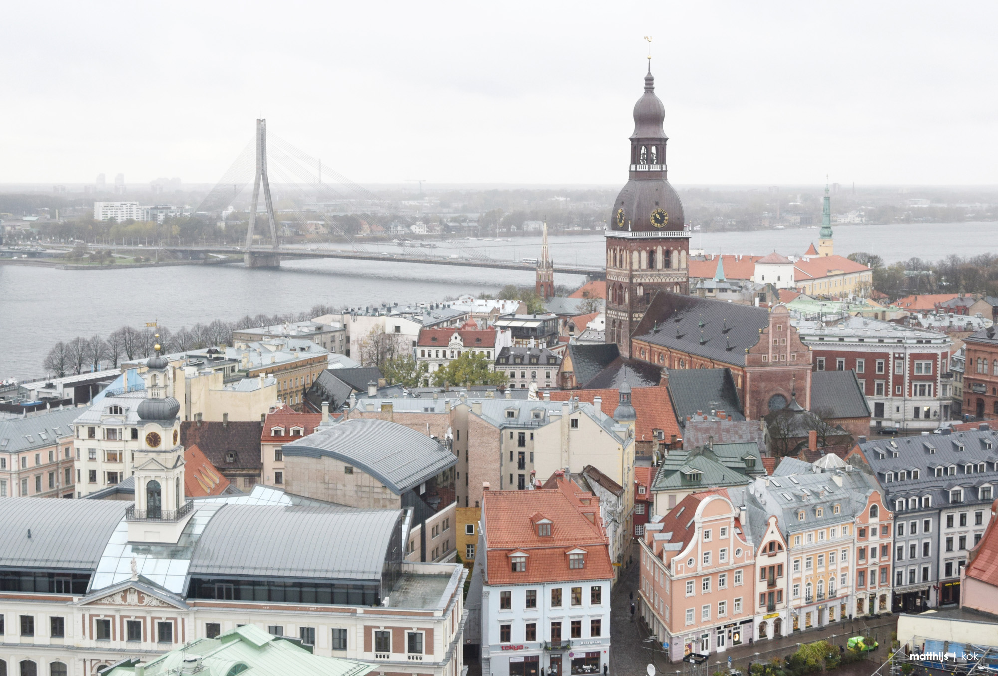 View Over Riga Old Town, Latvia | Photo by Matthijs Kok