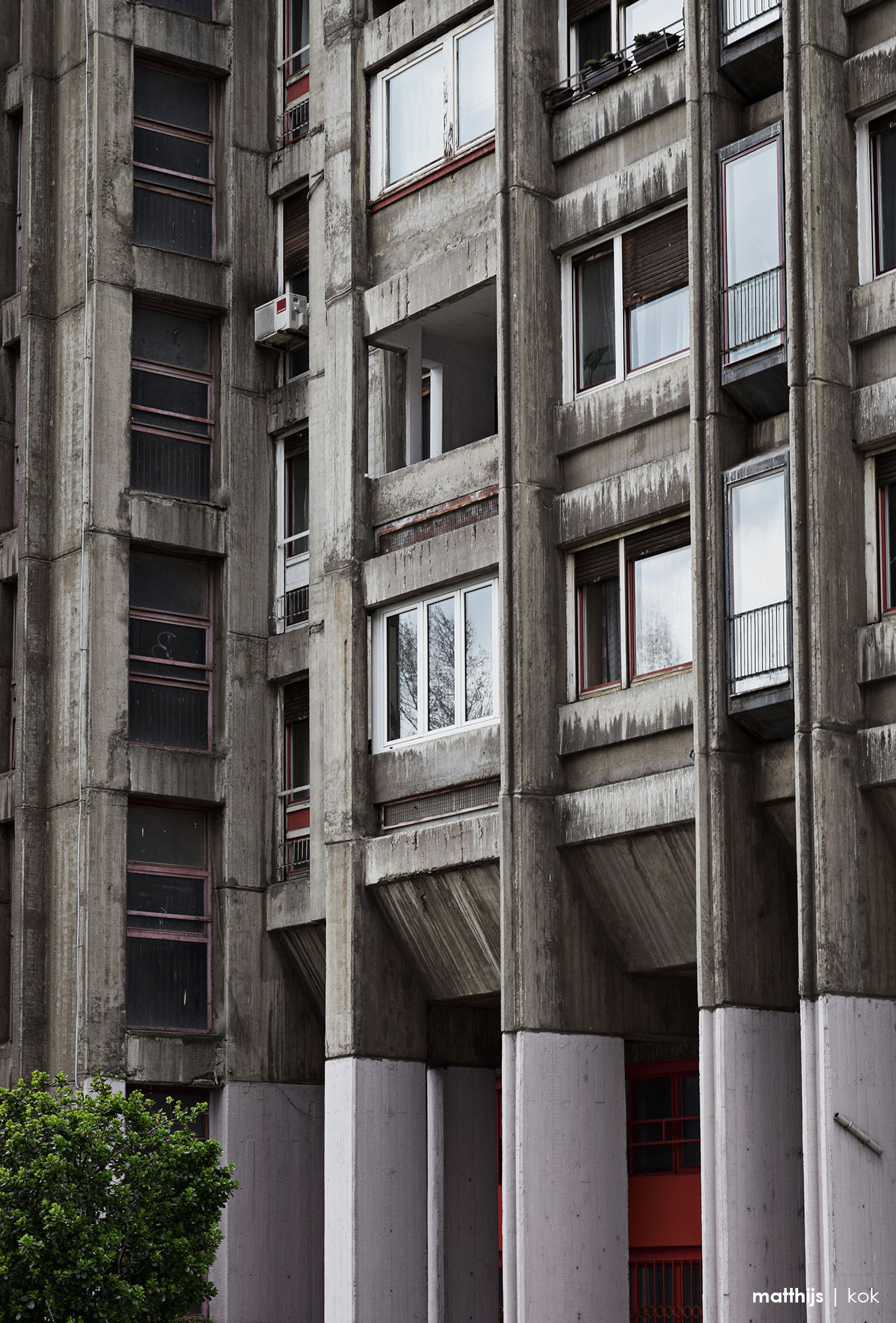 Brutalist Architecture Detail, Novi Beograd, Serbia | Photo by Matthijs Kok
