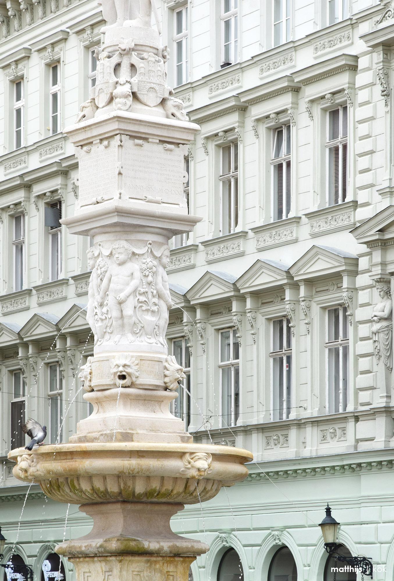 Roland's Fountain, Bratislava, Slovakia | Photo by Matthijs Kok
