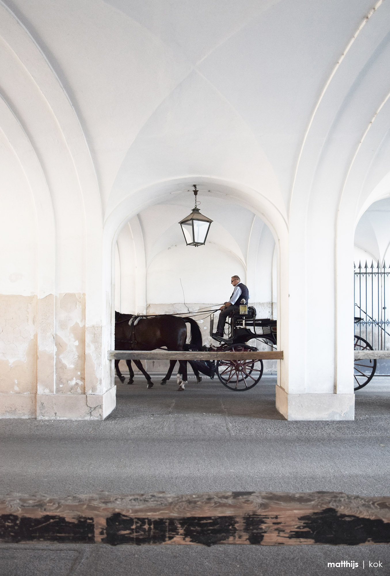 Horse Carriage in Spanische Hofreitschule, Vienna, Austria | Photo by Matthijs Kok