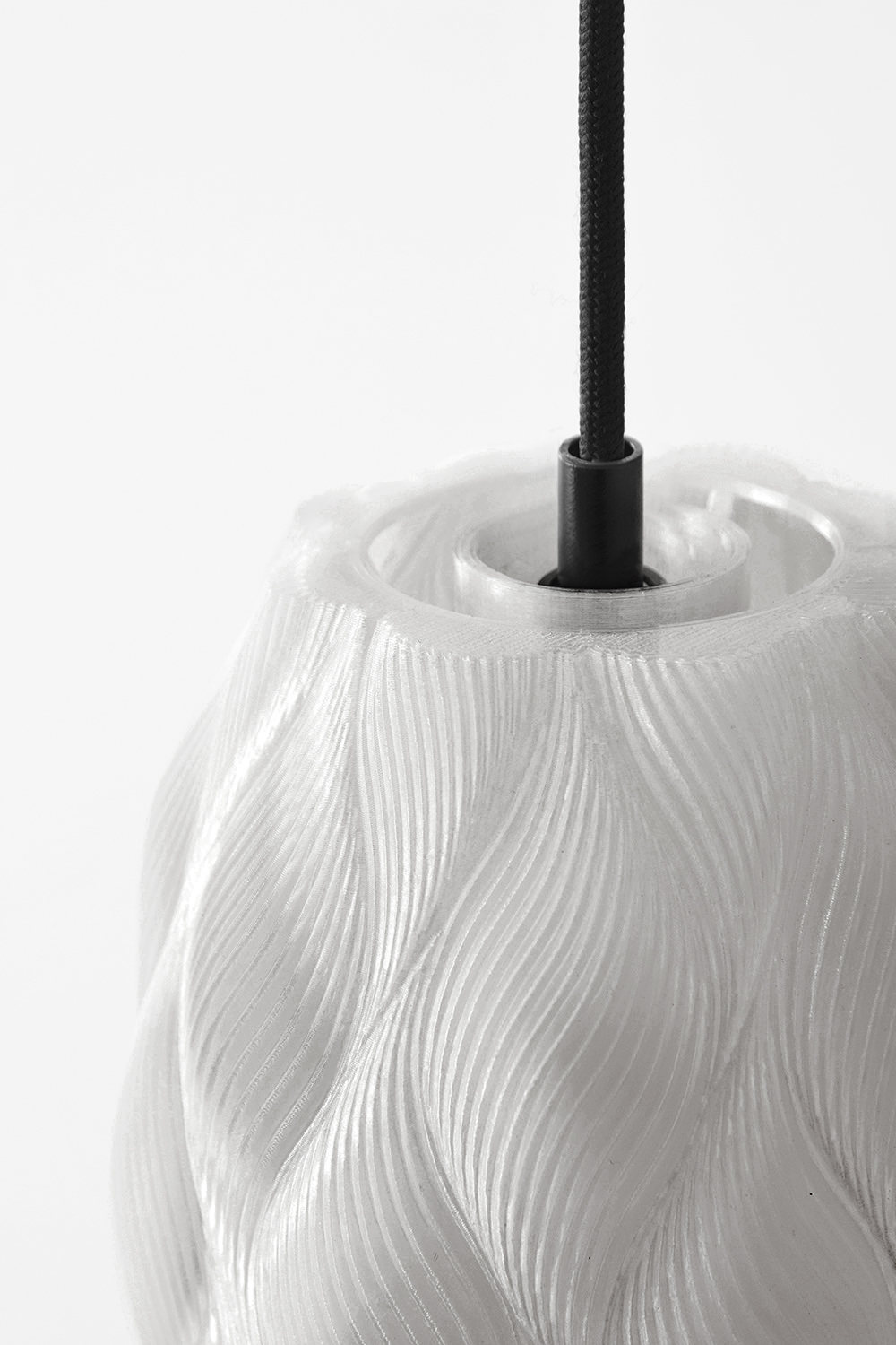 Lamellae Pendant Lamp Detail, Design by Matthijs Kok