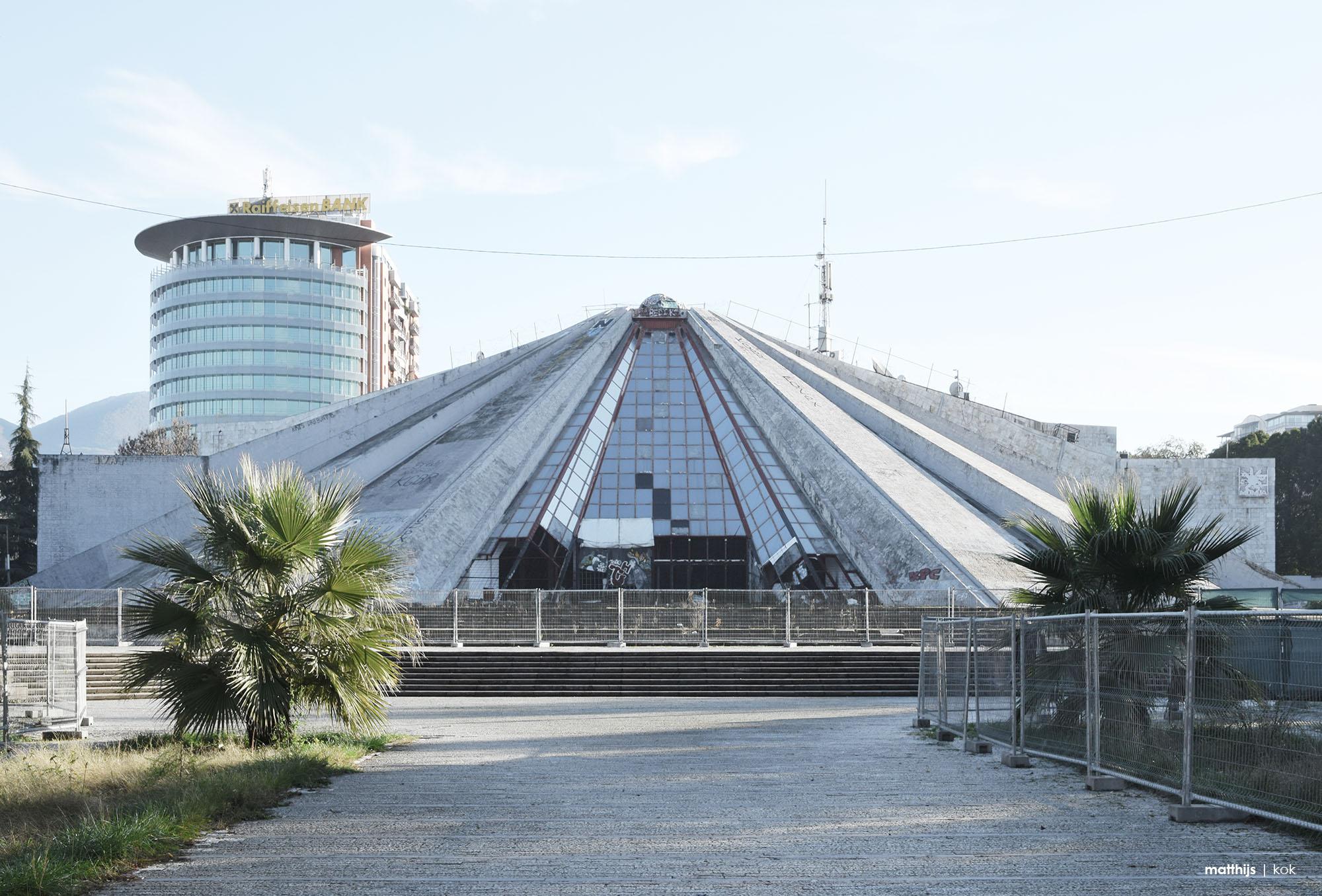 Pyramid of Tirana, Albania   Photo by Matthijs Kok