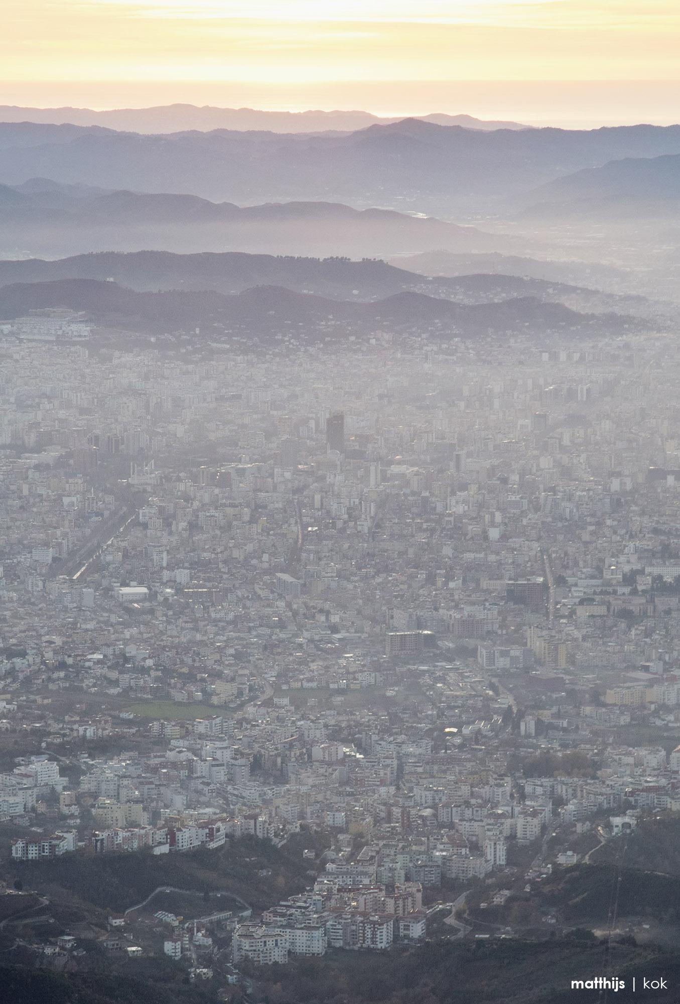Tirana as seen from Dajti, Albania   Photo by Matthijs Kok