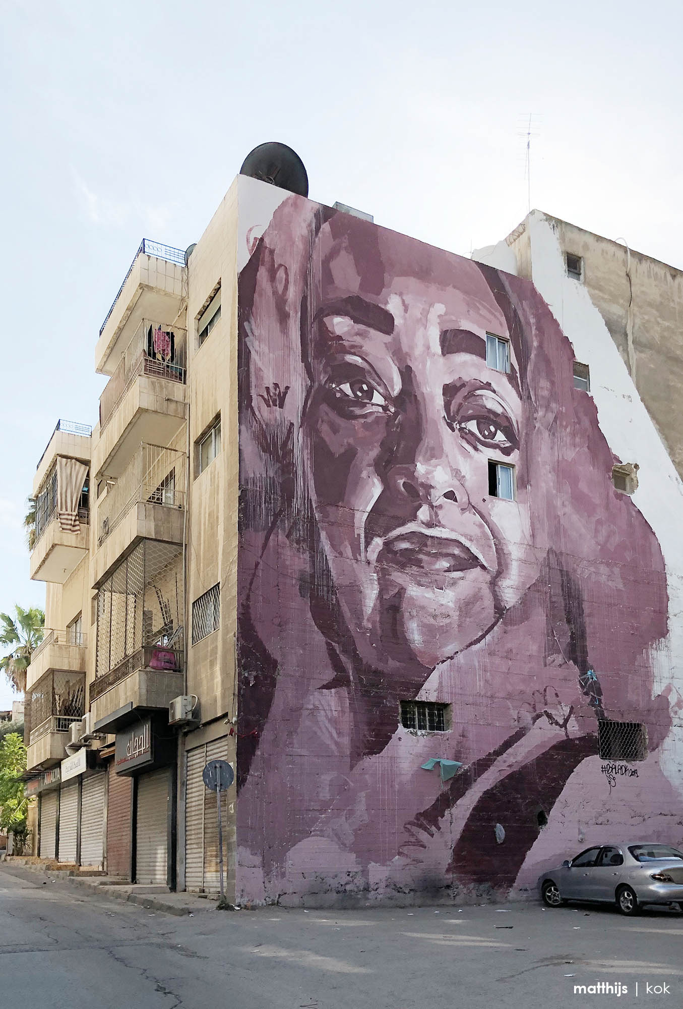 Zaha Hadid Mural, Amman, Jordan | Photo by Matthijs Kok