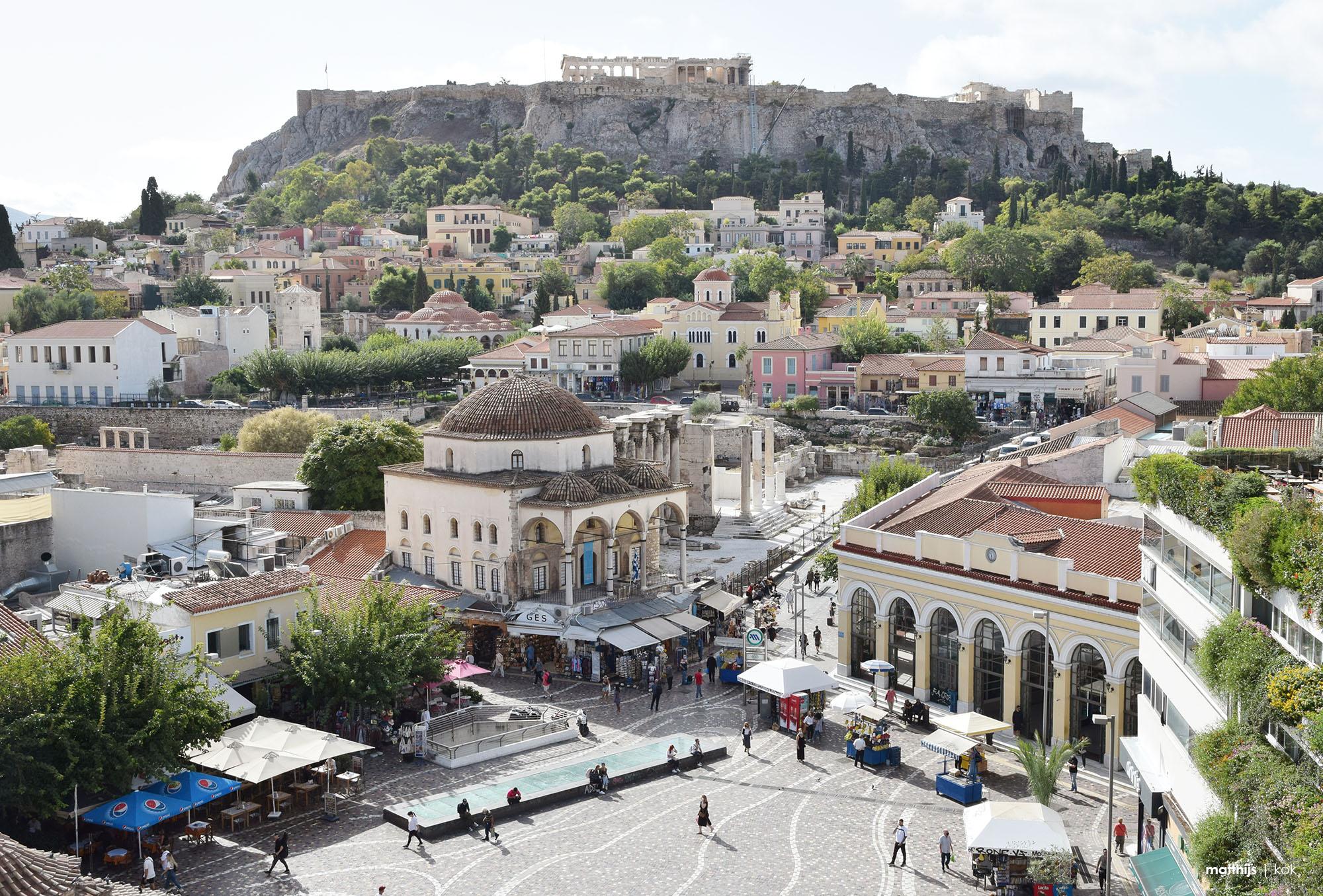 Monastiraki Square, Athens, Greece | Photo by Matthijs Kok