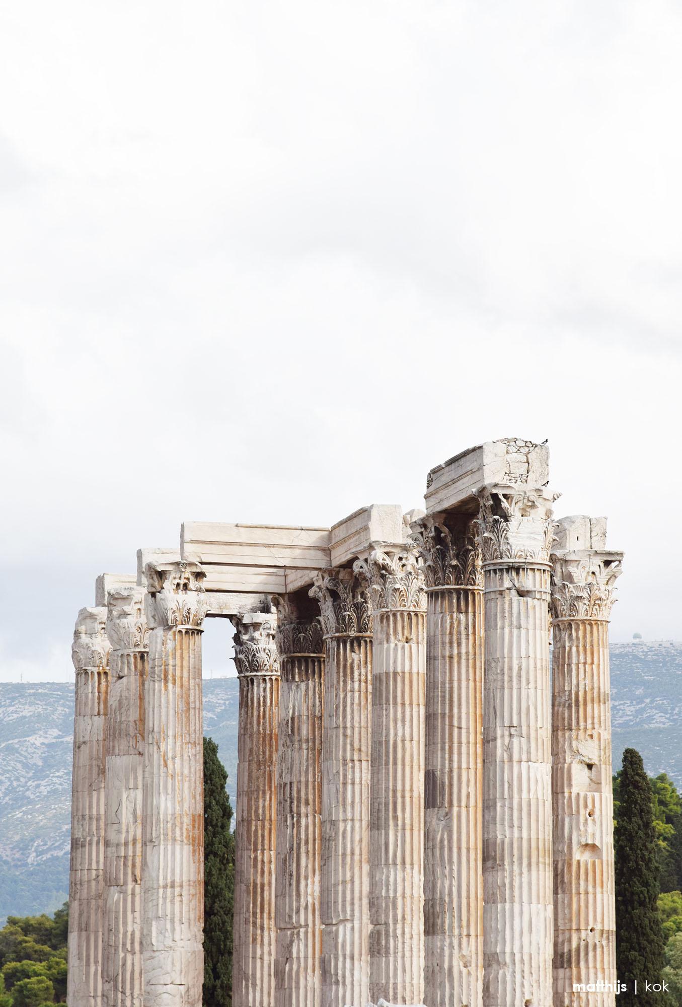 Olympieion, Athens, Greece | Photo by Matthijs Kok