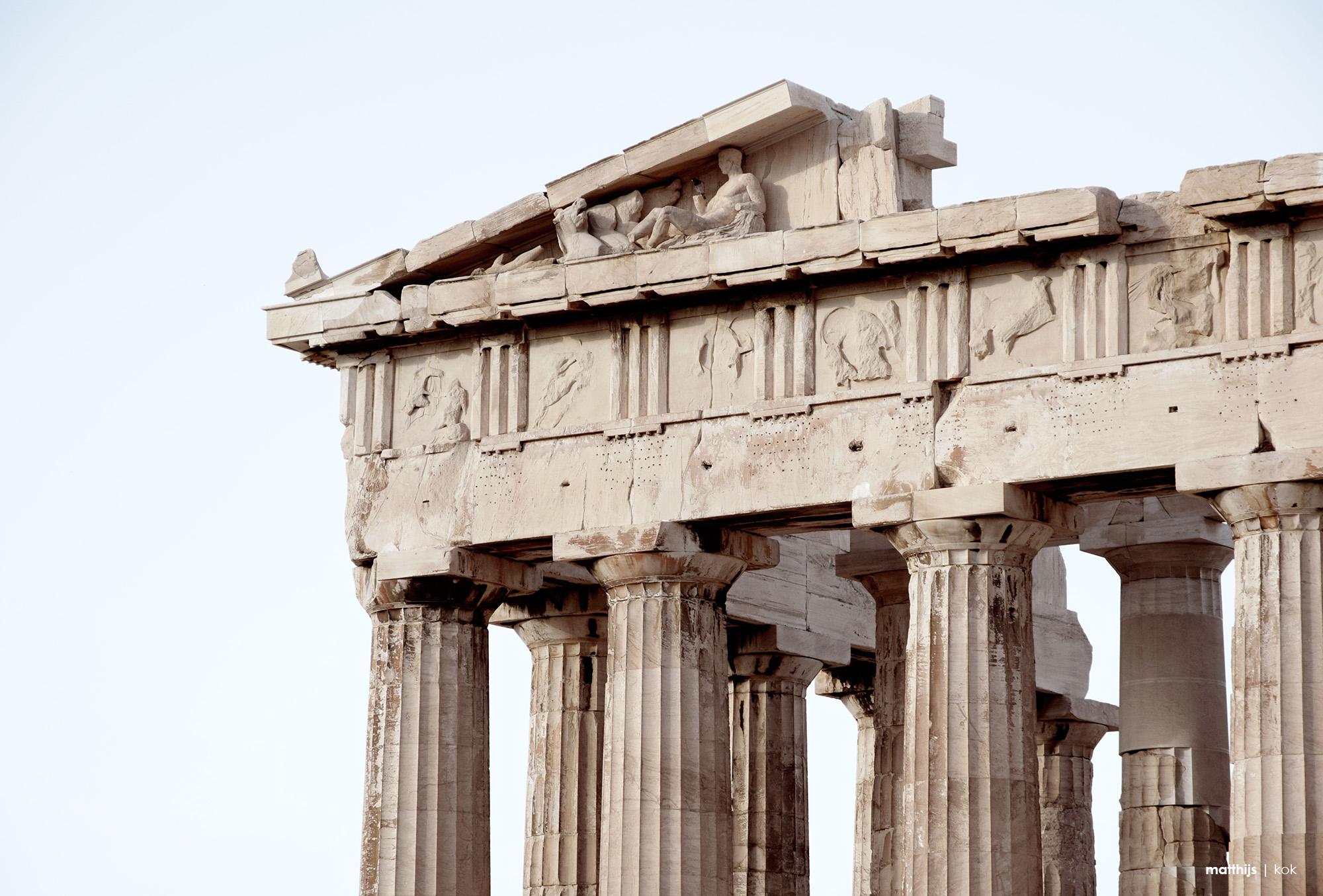 Parthenon Detail, Athens, Greece | Photo by Matthijs Kok